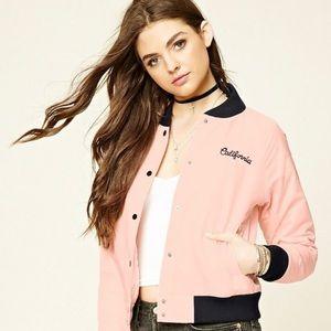 forever 21 california girl club bomber jacket M